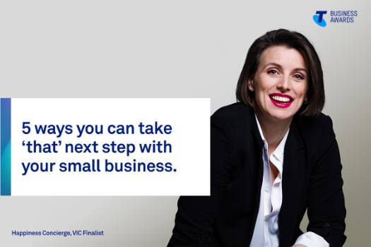 Happiness Concierge founder and 2019 Telstra Business Awards Victorian finalist Rachel Service