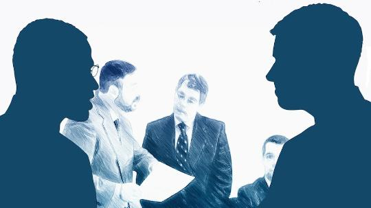 shady silhouette men shaking hands