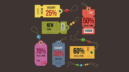 cartoon discount tags