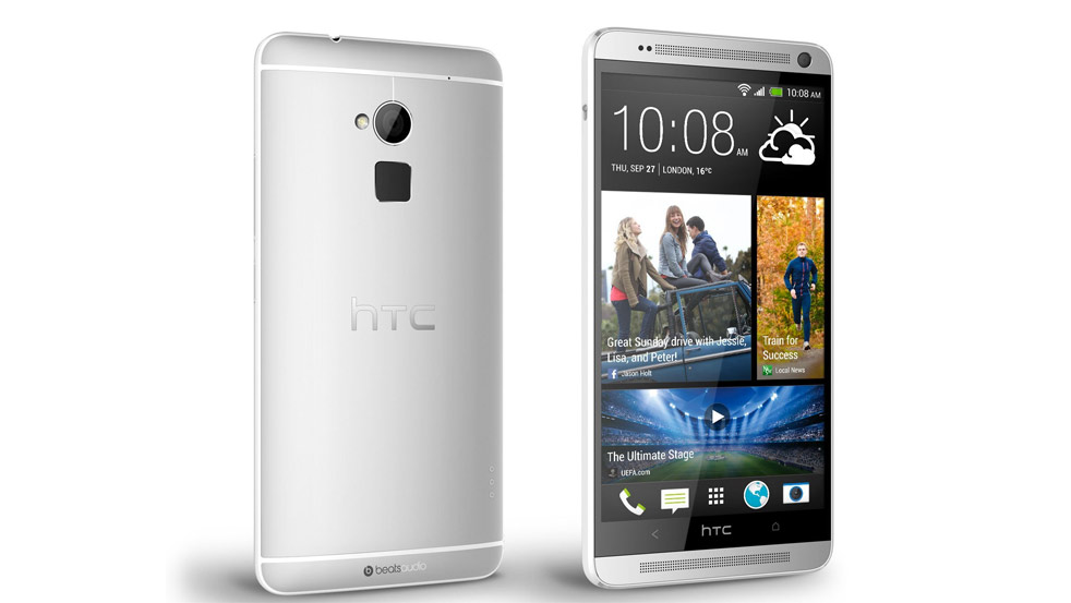 Front and Back of HTC One with shadow