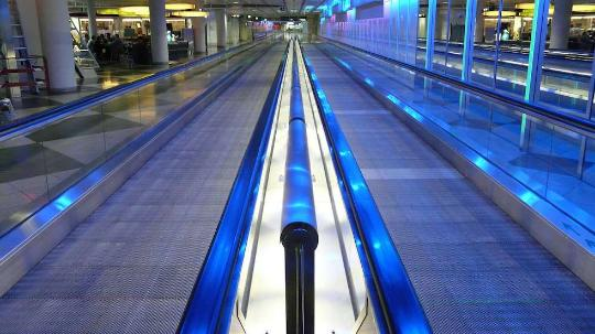 airport moving walkways