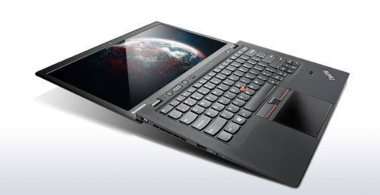 Lenovo ThinkPad on a grey gradient backgrount