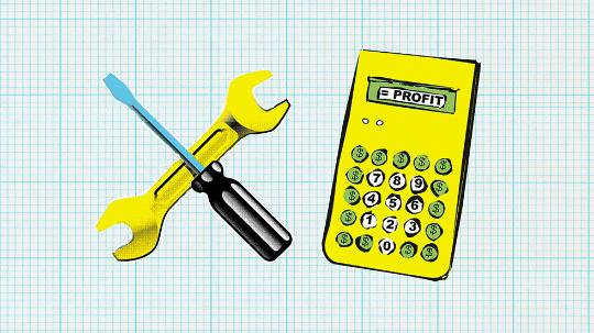 calculator and tools and graphic