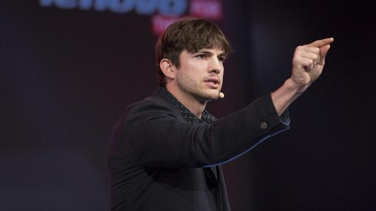 Ashton Kutcher at the Tech My Way event held in Sydney