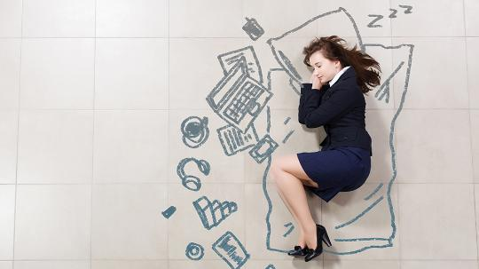 Exhausted businesswoman
