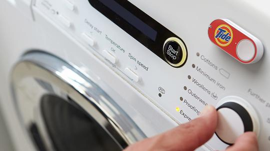 Amazon dash button on a washing machine
