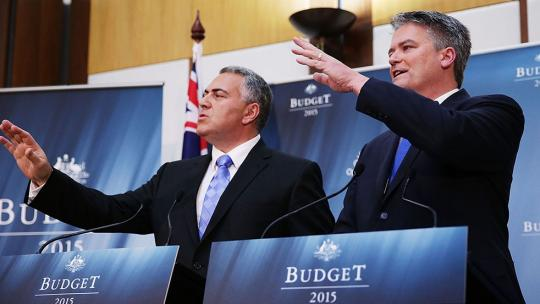 Joe Hockey announces the 2015 federal budget.