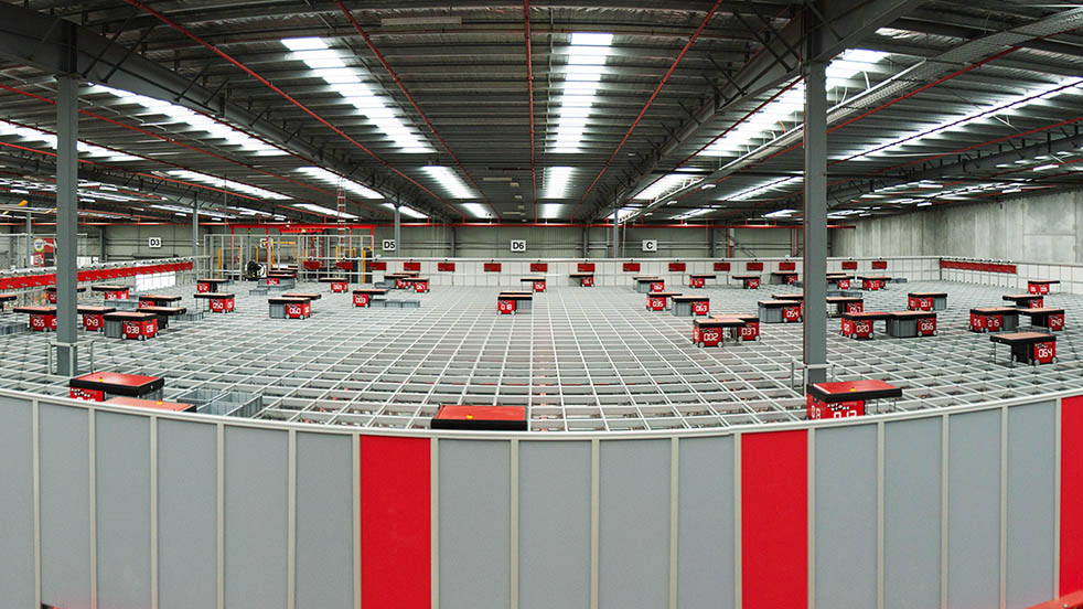 Overview of a factory floor