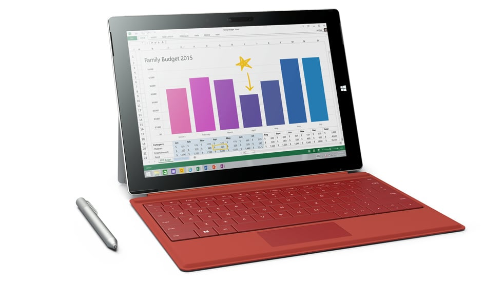 The Microsoft Surface 3