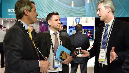 Businesspeople at Telstra Vantage 2015