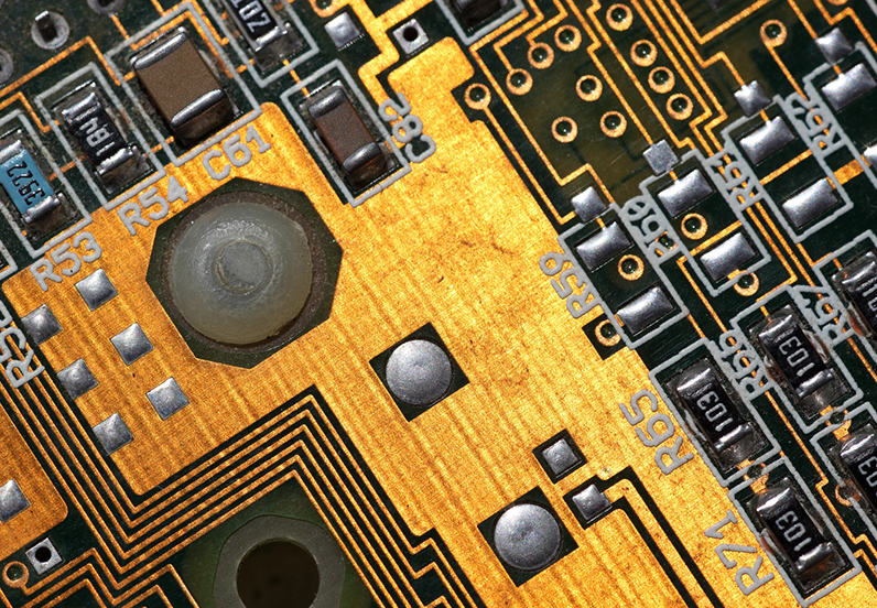 a close up image of a circuit board
