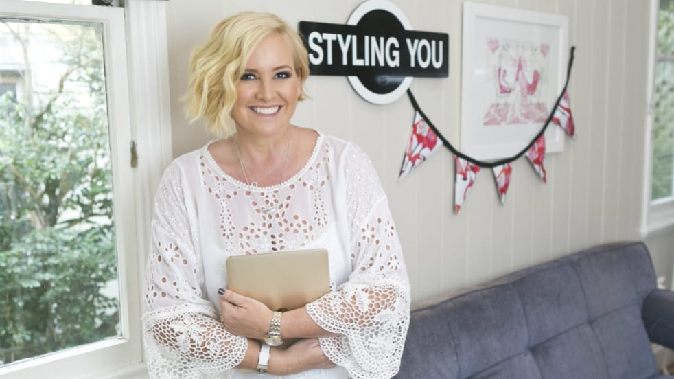 Nikki Parkinson from Styling You with her laptop