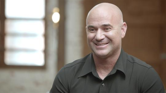 Tennis superstar Andre Agassi