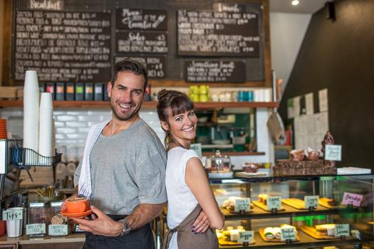 Image showing couple working together in a small business.