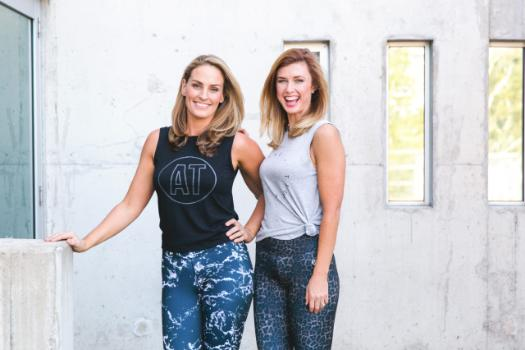 Active Truth co-founders Stevie Angel and Nadia Tucker wearing Active Truth activewear.