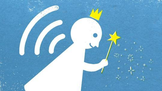 illustration of fairy and wifi signal
