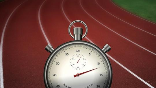 stop clock against running track