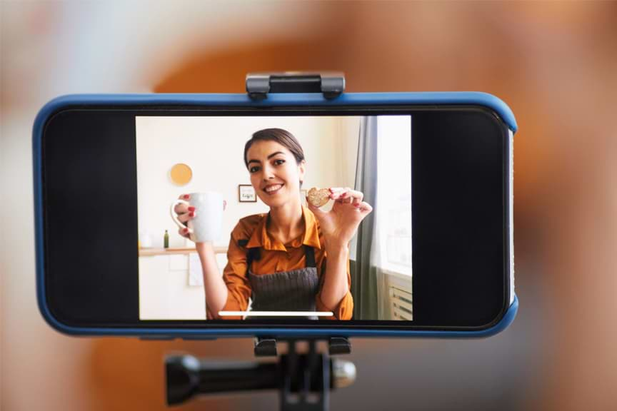 Making a video on a smartphone